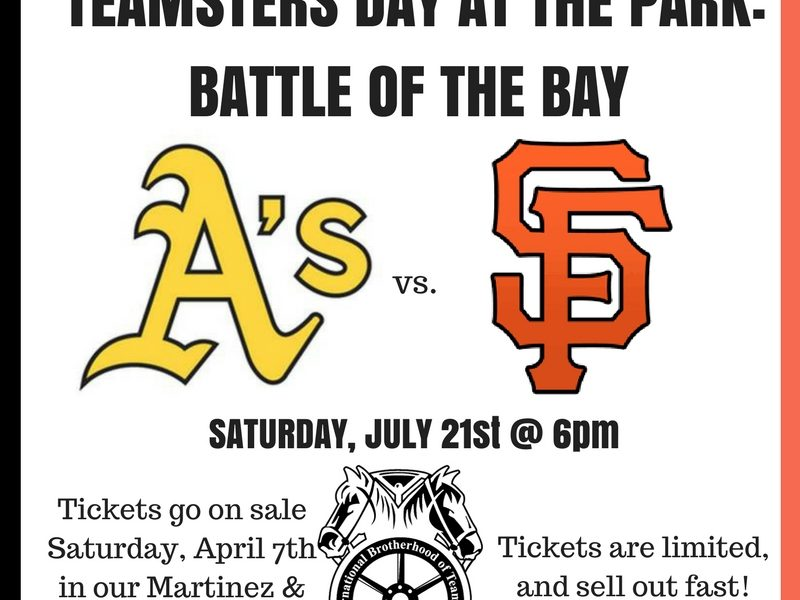 Teamsters Day at the Park Announcement