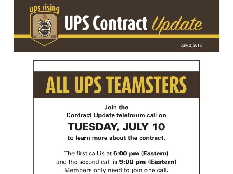 Teleforum Call for UPS Teamsters