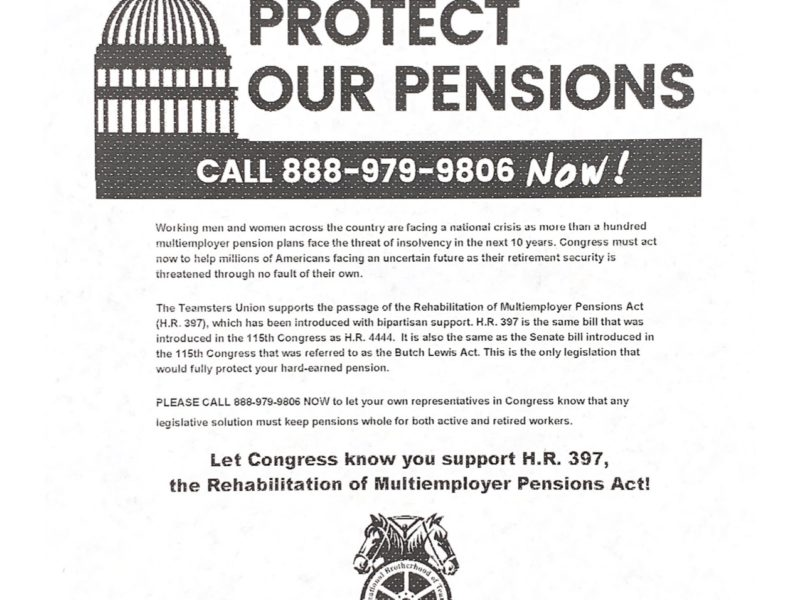 Protect Our Pensions!